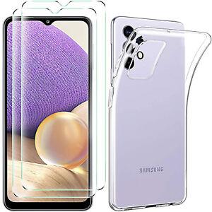 COVER per Samsung Galaxy A32 A52 A72 CUSTODIA TPU + PELLICOLA VETRO TEMPERATO