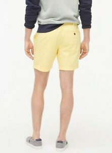Joules Mens Chino Shorts Classic Fit Pale Yellow