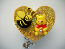 WINNIE THE POOH AND BEE RN MEDICAL DOCTOR EMT OFFICE NURSE ID BADGE HOLDER