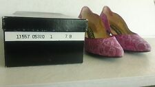 Women's Size 7B Lace Dress Heels, Dyed Rose Pink, Peacocks Signature Series