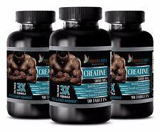 Pure Creatine Monohydrate Powder 3X 5000mg HCL Weight Gainer 270 Pills 3 Bottles