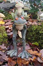 Garden Frog Stone Effect Patio Statue Ornament Indoor Outdoor Gift