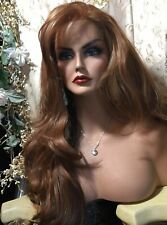 """HOT! Ombré RED To Dark Hair Mix,Human Hair BLENDED Style Either Way 32""""Long Wig!"""