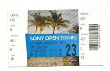 2014 SERENA WILLIAMS VS LI NA ATP SONY OPEN TENNIS FINAL TICKET STUB 3/29