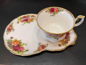 Royal Albert - OLD COUNTRY ROSES - Tennis Set Tea Cup & Plate Floral - Very Nice