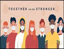Together We Are Stronger 19 Laminated Sign Sp3407