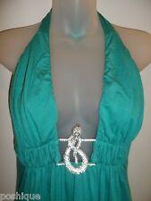 Sky Clothing Brand L Dress Rhinestone Crystal Snake Seafoam Turquoise Party Club