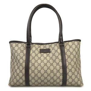 100% authentic Gucci GG 114595 tote bag Used 1019-3-e@1