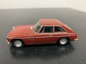 Dinky 1/43 Scale Diecast Model DY-19 1973 MGB GT red (no box)