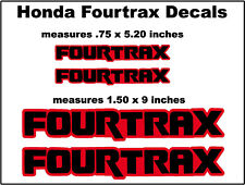 Decals for Honda Fourtrax Quads  Trx250r Trx450r Trx400 400ex 300ex 250x Trx90