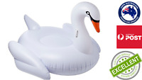 Giant Inflatable White Swan Pool Float-Summer Ride-on pool toy
