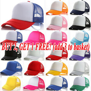 Kids Boys Girls Baseball Hats Adjustable Mesh Visor Snapback Casual Caps Outdoor
