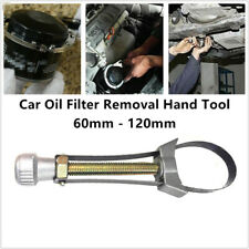 Adjustable Car SUV Oil Filter Removal Hand Tool Strap Wrench 60mm-120mm Diameter