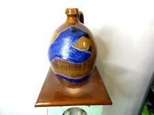 master potter randy tobias face jug,pottery,  ( folk art snake 11''x7'')