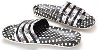Adidas Adilette W Farm Sandals CM 8224 Women's US 10 New Black White