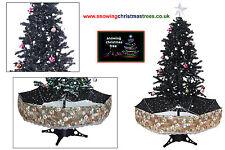 NEVICANDO Albero di Natale 1.7 M | Ombrello Nero Base | Bellissima Gonna Con Motivo