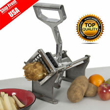 Commercial Quality Potato French Fry Fruit Vegetable Cutter Slicer W 3 Blades BP