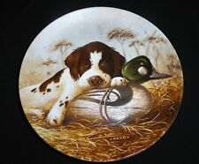 Knowles Dog Tired ~The Springer Spaniel Field Puppies Collector Plate Lynn Kaatz