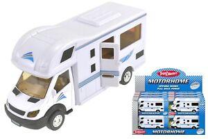White Motorhome Camper Van Die Cast Kids Vehicle Toy Birthday Gift 1:40 Scale