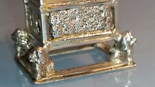 1902 Edwardian Solid silver miniature coronation chair in great condition