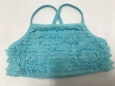 Hanna Andersson Blue Ruffle Bathing Suit Top Size 110