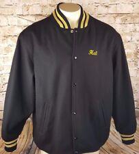 Ontario Jets Hockey Club Letterman Style Jacket Unique Men Large Black
