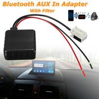 Car Bluetooth Radio Stereo AUX Adapter Receiver Filter Audio Input For BMW E60