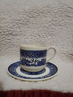 BLUE WILLOW Tea Cup And Saucer MADE IN USA