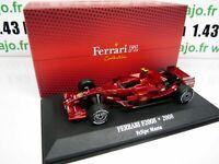 F1F4T voiture atlas 1/43 F1 Ferrari Formule 1 champion : F2008 F. MASSA 2008