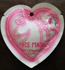 Girl's Justice adorable unicorn strawberry scented  face mask (VERY LAST ONE)