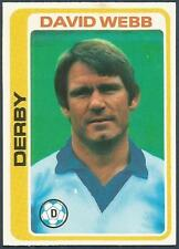 TOPPS 1979 FOOTBALLERS #272-DERBY COUNTY-DAVID WEBB