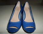 """COLE HAAN WOMENS """"TALI"""" NIKE AIR PATENT WEDGE-BLUE,Size 9"""