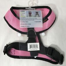 Dog Harness Small Dog 12-16 Pounds Comfort Mesh StrongNylon Straps Pink & Black