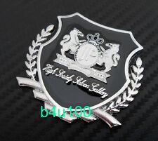 Silver car side VIP MetaL Badge Emblem Decal Sticker JUNCTION produce JP bF