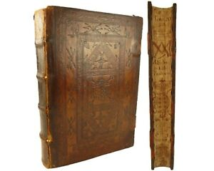 Fore-edge painting.1596 Alonso Tostado (Tostati) Episcopi Abulensis...Chronicles
