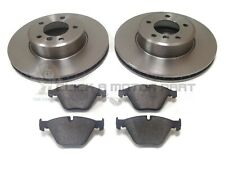BMW E60 E61 520 520D 525 525D FRONT 2 BRAKE DISCS AND PADS (CHECK SIZE CHOICE)