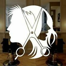 A1034 Hair Stylist Scissors Decal Sticker Hair Dresser Salon Dryer Comb Barber