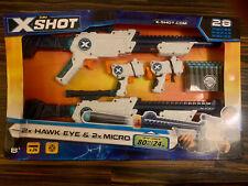 Zuru Xshot 2X Hawk Eye & 2X Micro 24 Dart Range Tested Winner New Other