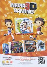 "aming Dual Pen Sports ""Nintendo 3DS"" 2011 Magazine Advert #4390"