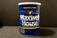 """Vintage Maxwell House Coffee Can 16oz """"Electra-Perk"""" Empty"""