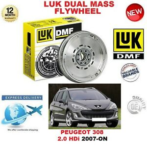 FOR PEUGEOT 308 2.0 HDi 2007-ON ORIGINAL LUK DMF DUAL MASS FLYWHEEL 4A 4C SW CC