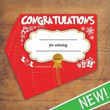 10 Pack Christmas Certificate - Winner Party Game Kids School Quiz