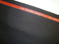 "5.16 yd HOLLAND SHERRY WOOL Suiting Fine Luxury Worsted 11.5 oz Stripe 186"" BTP"