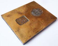 Matrice de sceau cachet en bronze 19e siècle armoiries blason