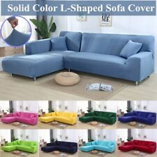 2pcs L Shape Universal Couch Protector Sofa Covers Sectional Elastic Slipcovers