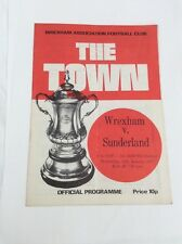 Wrexham v Sunderland  F.A Cup replay  January 1977