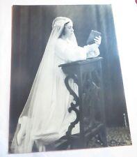 PHOTO ANCIENNE TIRAGE ARGENTIQUE ORIGINAL NOIR & BLANC   LA COMMUNIANTE 1936 SIG