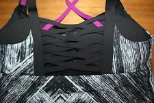 Lululemon Hot To Street Tank top bra top 6 S Heat Wave White Black Plum NWT