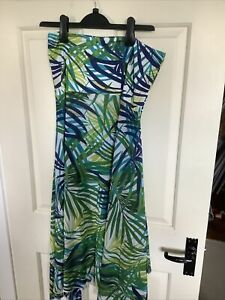 Ladies Strapless Dress Beach Cover Up Size L/XL