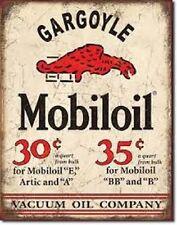 Mobil Gargoyle Gas & Oil Service Garage Distressed Retro Vintage Metal Tin Sign